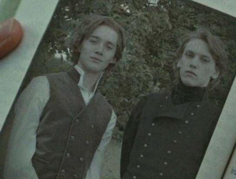 One of the only photos of a young Albus Dumbledore and Gellert Grindelwald together