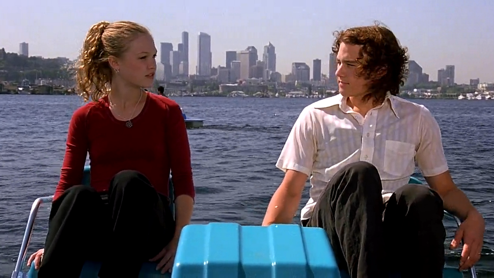 Julia Stiles and Heath Ledger in '10 Things I Hate About You'