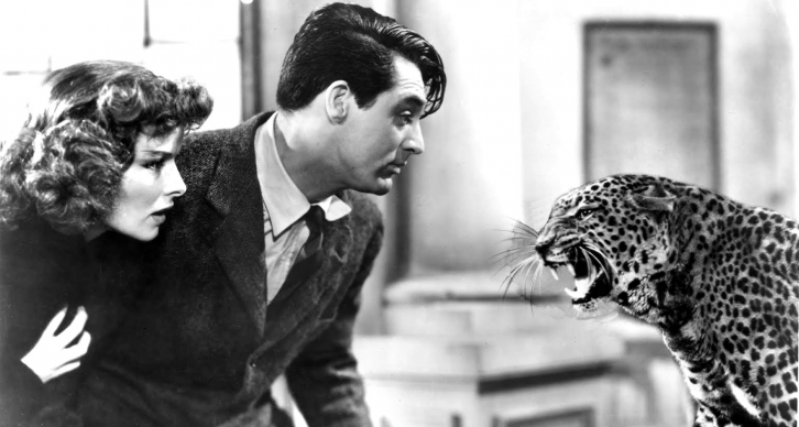 Katharine Hepburn and Cary Grant in 'Bringing Up Baby'