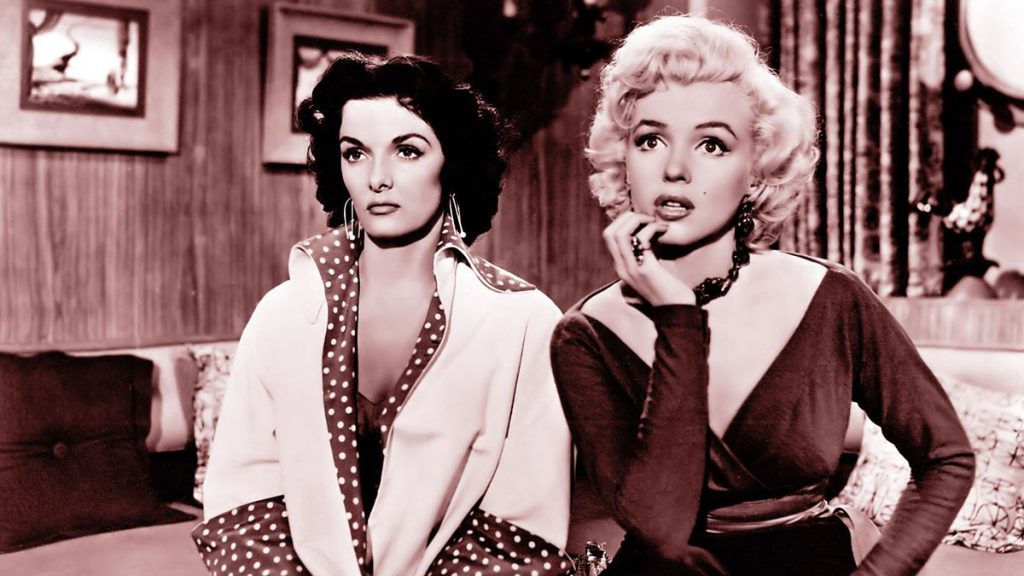 Jane Russell and Marilyn Monroe in 'Gentlemen Prefer Blondes'
