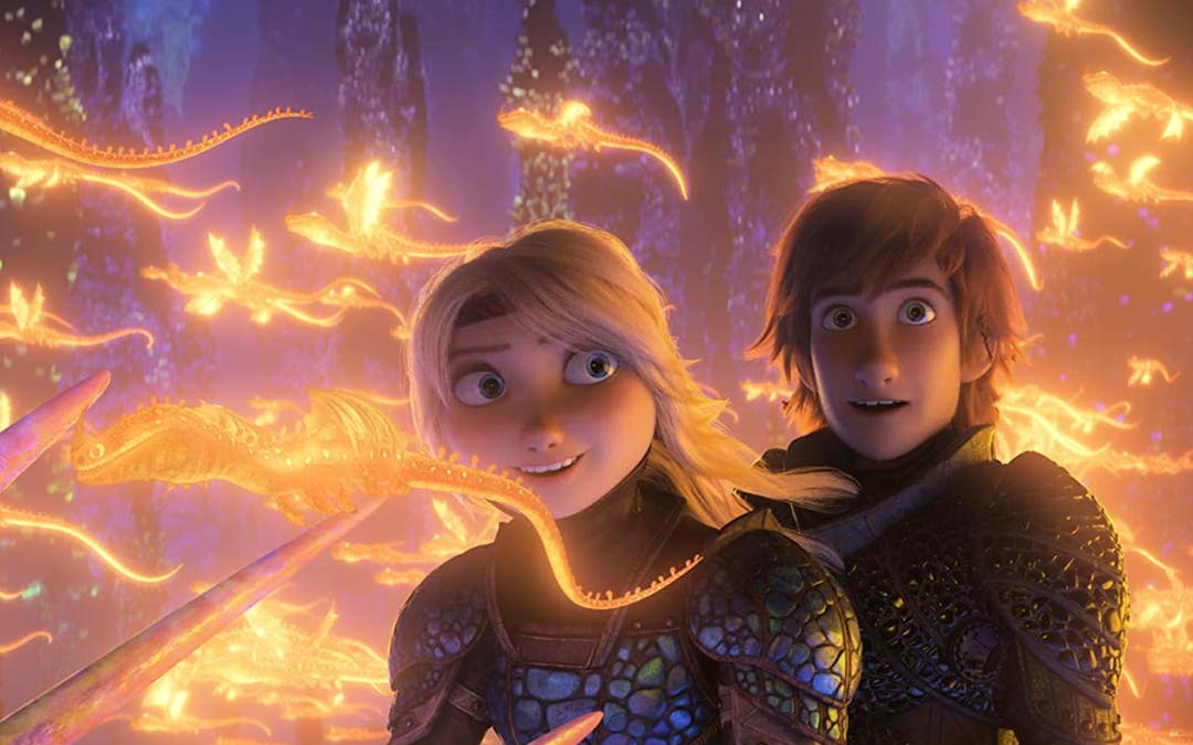 Astrid and Hiccup in 'How to Train Your Dragon 3: The Hidden World' (Credit: Universal)