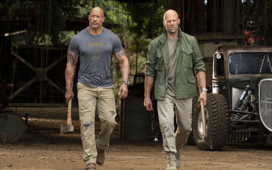 Dwyane Johnson as Luke Hobbs & Jason Statham as Deckard Shaw in 'Fast & Furious Presents: Hobbs & Shaw' (Courtesy: Universal)
